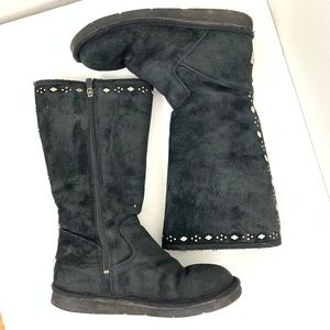 Ugg Joplin 5544 Black Studded Sheepskin Boot 8